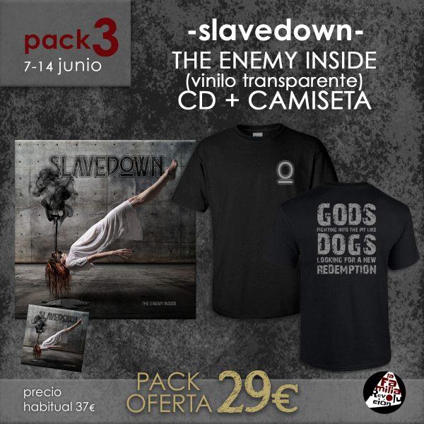 pack 3 slavedown the enemy inside + tshirt la familia revolucion