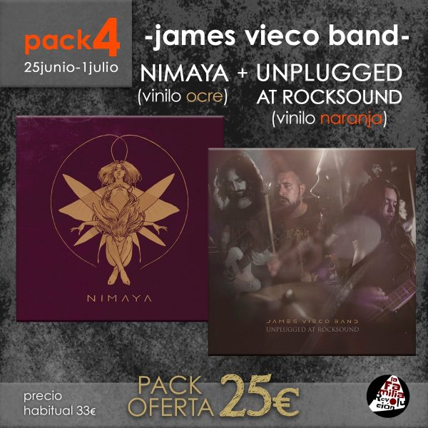 pack 4 james vieco band OFERTA LA FAMILIA REVOLUCION RECORDS